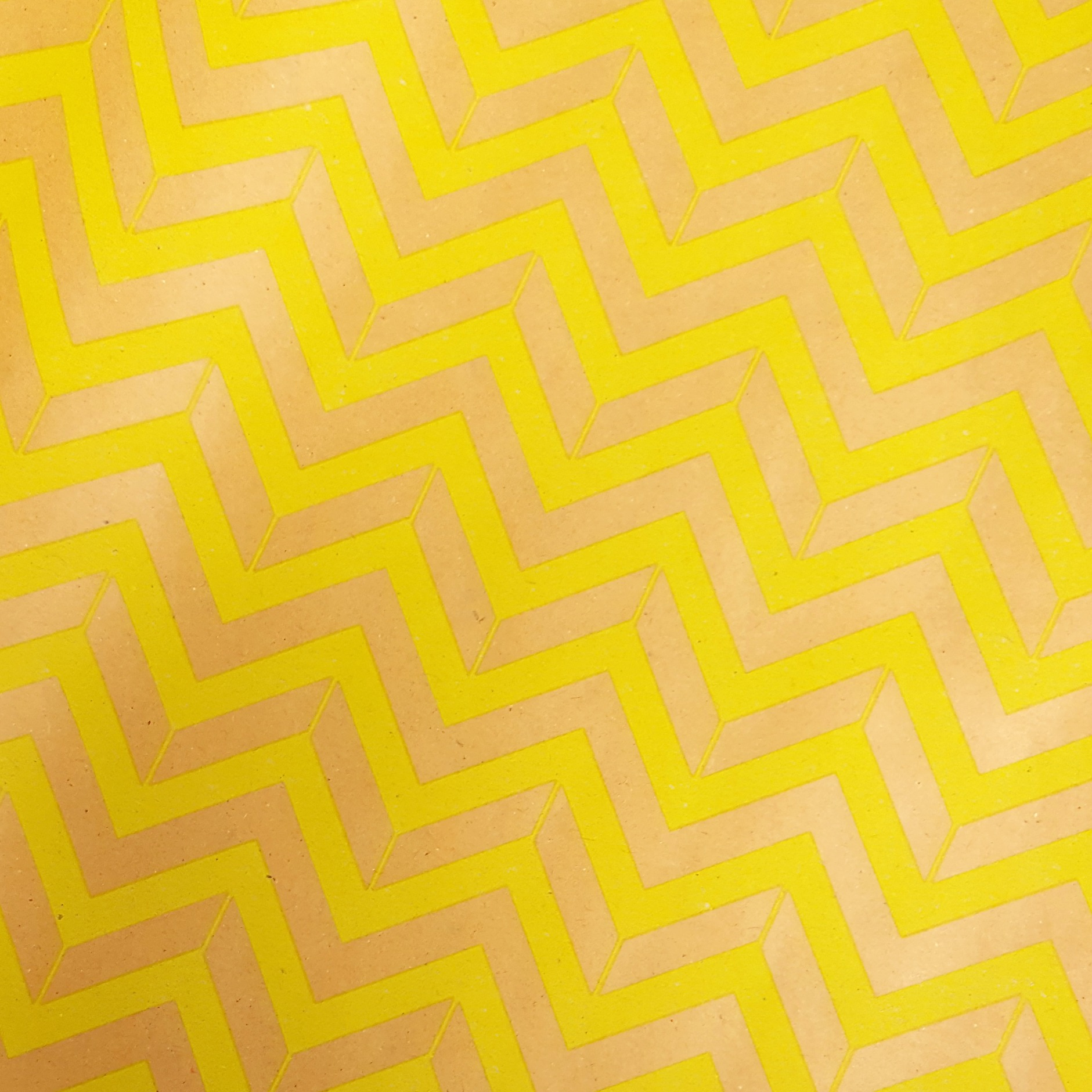 Gift wrapped fudge gift box in yellow chevron paper | Heavenly Fudge